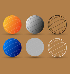 volleyball ball - set vector image