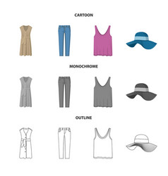 woman and clothing sign vector image