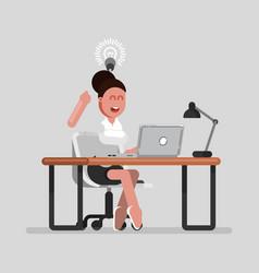 woman designer have an idea vector image