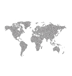 World Map Dot Halftone Dotwork vector