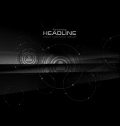 abstract black technology hud graphic design vector image