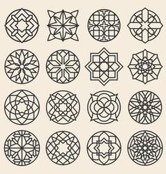 arabesque ornaments star logo design vector image