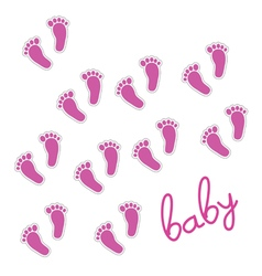 baby feet pink vector image