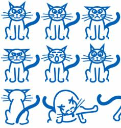 cat expressions vector image vector image