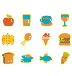 cute icon food vector image vector image