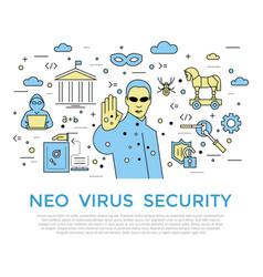 digital color internet security vector image vector image