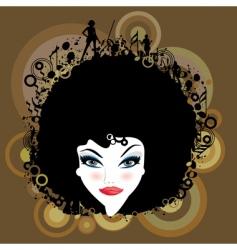 disco nightclub background vector image vector image