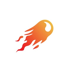 Fire ball logo vector image