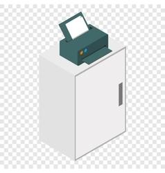 Isometric laser printer icon vector image vector image