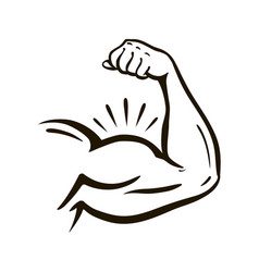 power hand muscular arm bicep gym wrestling vector image vector image