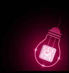 Technology future light bulb card chip vector
