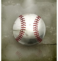 Baseball old-style vector image vector image