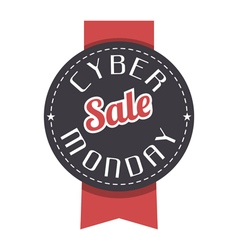 Cyber Monday label vector image vector image