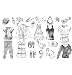 female spring and summer fashion collection of cl vector image vector image