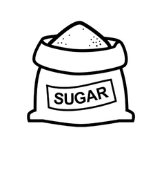 sugar bag vector image