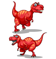Tyrannosaurus rex with sharp teeth vector image vector image