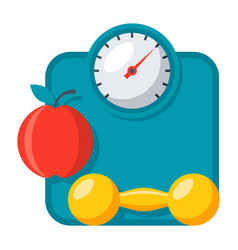 Weight management icon vector