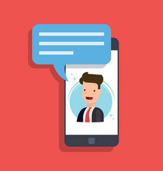 concept of an incoming message on a mobile phone vector image vector image