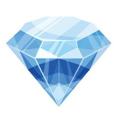 diamond icon cartoon style vector image