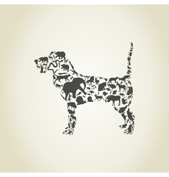 Dog an animal vector image vector image