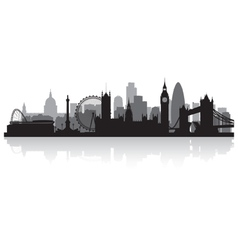 London city skyline silhouette vector image vector image