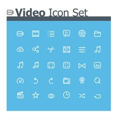 Video icon set vector image vector image