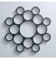 Abstract infographics symmetrical black circles vector image vector image
