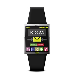 communication with smart watch technology vector image vector image