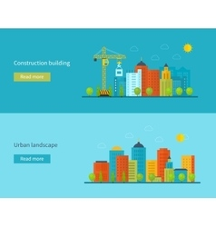 Flat design concept with icons vector image vector image