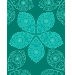 Floral hand drawn seamless pattern with mandala vector image