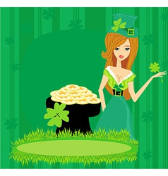 Greeting card for the holiday St Patricks Day vector image