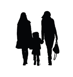 two woman with girl vector image vector image