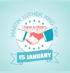 15 january martin luther king day vector image