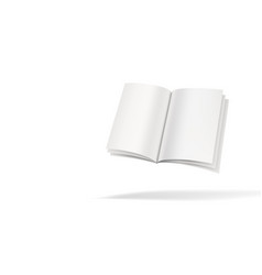 3d open book or dictionary flying on white vector image