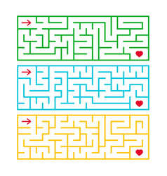 a set of rectangular labyrinths an interesting vector image