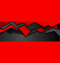 Abstract black red corporate banner design vector