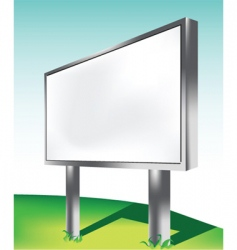 advertising screen vector image