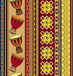african drum beckground vector image vector image