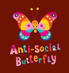 Anti social butterfly vector