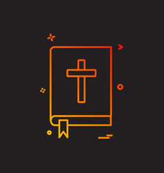 book holy bible icon design vector image