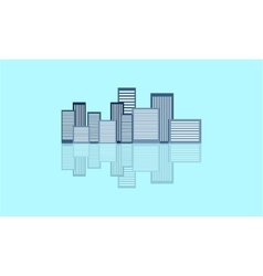 Building flat with reflection vector