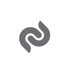 c letter s logo template abc c letter logo vector image