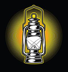 camping lamp light vintage adventure outdoor logo vector image