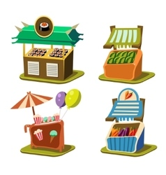 Cart Stall Food vector image