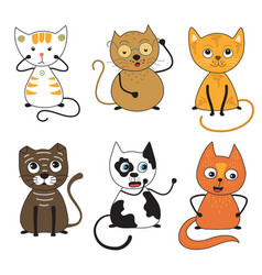 Cats collection part 2 vector