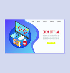 chemistry laboratory website template vector image