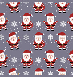 Christmas seamless pattern with santa background vector