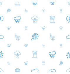 Cloud icons pattern seamless white background vector