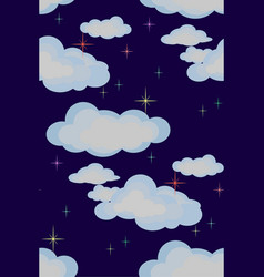 Clouds and stars vector