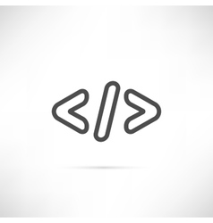 Coding Simple Icon vector